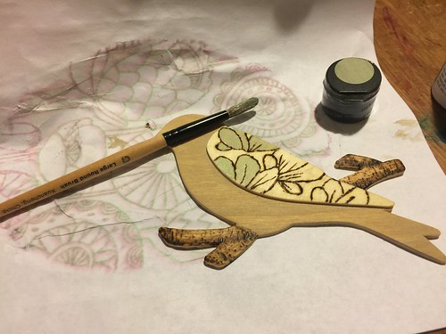 painting the bird