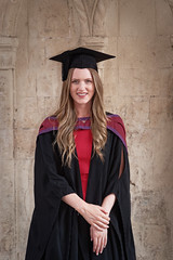 C at Graduation in Mortarboard and Gown (Richard :)) Tags: graduate graduation law universityofbristol mortarboard gown girl portrait stone limestone lady