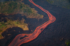 Kilauea Hawaii Volcano Lava Flow 3 (tobyharriman) Tags: 5dsr kapoho leilaniestates aerial bay bigisland canon disaster farms fissure hawaii helicopter islands kilaueafissure8 landscape lava natgeo nationalgeographic nature outdoor pele photography rifts river tobyharriman travel volcano