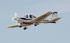 G-BYVB (goweravig) Tags: gbyvb codedvb uwas grob tutor tutort1 aircraft flyby visiting swansea wales uk swanseaairport raf