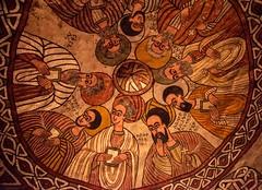 The Nine Saints (Rod Waddington) Tags: africa african afrique afrika äthiopien ethiopia ethiopian ethnic etiopia ethnicity ethiopie etiopian nine saints orthodox church christianity coptic abuna yemata ruh painting 6thcentury gheralta hawzien rockhewnchurch