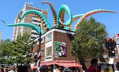 Rise of the nonconformists (ec1jack) Tags: riseofthenonconformists whitecrossstreet party street stlukes oldstreet islington london england britain uk europe summer sunny july 2018 ec1jack kierankelly canoneos600d graffit artist urban art green octopus tenticles