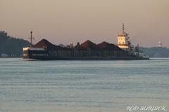 und_pm41_7918rb (rburdick27) Tags: tug barge undaunted peremarquette41 sunrise stclairriver tugbarge