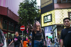 Space out (人間觀察) Tags: leica m240p leicam leicamp hong kong street photography people candid city stranger mp m240 public space walking off finder road travelling trip travel 人 陌生人 街拍 asia girls girl woman 香港 wide open voigtlandernokton3512 35mm f12 voigtlander