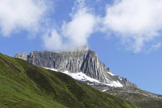 view on Oberalp Pass Swiss Alps Switzerland