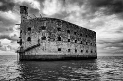 Fort Boyard (Fabrice Denis Photography) Tags: seascapephotography france noiretblanc bwphotography charentemaritime instacroisière monochromephotography fortboyard sea nouvelleaquitaine blackandwhitephotographer ocean monochrome seascapes oceanphotography blackandwhite fouras seascapephotographer blackandwhitephotos seascapephotos blackandwhitephotography saintgeorgesdoléron fr