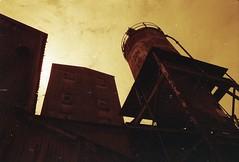 (von8itchfisk) Tags: olympus om10 lomography 35mm redscale ishootfilm film filmisnotdead analog analogphotography architecture industrial factory derelict watertower vonbitchfisk