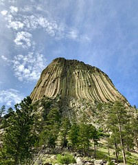 Devils Tower National Monument (Craigs Travels) Tags: devilstower closeencounters ofathirdkind movielocation wy wyoming nationalmonument clouds igneous hexagonalcolumns blackhills