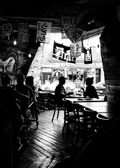 Rendezvous (MassiveKontent) Tags: meetup meeting rendezvous silhouette couple restaurant streetscene noiretblanc blackwhite blancoynegro montreal bw contrast city monochrome urban blackandwhite street photo montréal quebec photography bwphotography streetshot