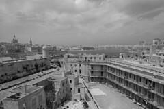 Valetta fort b&w (Rob McC) Tags: bw monochrome blackandwhite valetta fort santlermu delapidated cityscape waterfront fortification malta