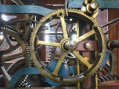 Räderwerk der Zeit (Sockenhummel) Tags: neuruppin uhr kirchturmuhr räderwerk zahnräder technik kirche kirchturm turmuhr clock