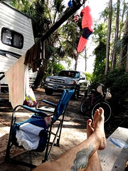 Kicking back listing to the F22's overhead (Dave* Seven One) Tags: pcb2018 pcb standrewsstateparkfl camping uppergrandlagoon campsite panamacitybeach fl florida 2018 vacation family standrewsstatepark beach gulf gulfofmexico campground