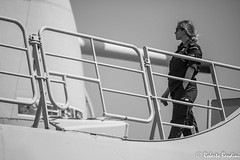 Take a break (Roberto Bendini) Tags: woman belgium belgio belgie belgique zeebrugge navy marine marina nave vascello fregata fregate patrol helicopter amry armée esercito costa mare porto sea port canon