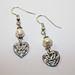 Precious metal clay earrings w/pearls