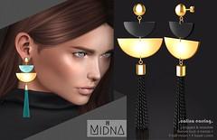 Midna - Calina Earrings (Kimi - MIDNA) Tags: earring secondlife midna calina jewel jewelry accessory