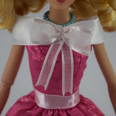 2018 Singing Cinderella Doll - Disney Store Purchase - Deboxed - Standing - Closeup of Large Ribbon and Bow on Her Dress (drj1828) Tags: disneystore singing 1112inch cinderella purchase pink dress deboxed standing