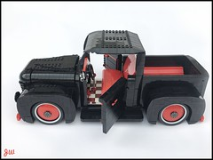 Black Pick Up (jarekwally) Tags: lego pick up moc wallyjarek jarekwally black red chrome car truck lugpol zbudujmyto brickie lugie jw