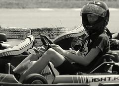 Are you ready ? (Et si, et si ...) Tags: portrait maël monochrome karting