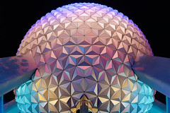 Spaceship Earth | Epcot Center (Pandry 2015) Tags: architecture canonusa canon6d canon disneyphotography nightphotography night colors light themeparks florida orlando spaceshipearth epcotcenter epcot disneyparks disneyworld disney waltdisneyworld wdw