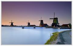 Dutch windmills (Oguzhan Amsterdam) Tags: dutch windmills molens zaanse schans zaandam sunset long exposure longexposure purple oguzhan photography lee leefilter neutral density neutraldensity nd 10stops zaanstad zaan