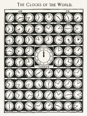 The Clocks of the World from Medicology (1910). Digitally enhanced from our own original plate. (Free Public Domain Illustrations by rawpixel) Tags: tags analog antique arranged arrangment arrows art assorted assortment business cc0 circle cities clock clocks clockwise clockwork collection connection countdown design device difference display drawing flat global gmt greenwich greenwichmeantime illustration international jetlag lithograph mean old painting plate print publicdomain retro set standard theclocksoftheworld time timezones timepiece timezone vintage world worldclocks worldtime zone zones