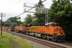 BNSF was busy on this day (kschmidt626) Tags: union pacific train illinois rochelle park railroad graffiti bnsf burlington diamond