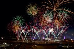 Stampede fireworks 2018 version (John Andersen (JPAndersen images)) Tags: alberta calgary fireworks highway1 night stampede summer
