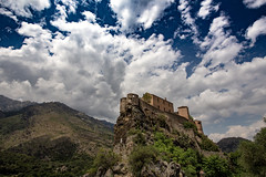 Nuages sur le nid d'aigle / Clouds over the Eyrie (dbrothier) Tags: corte france fr canonef1740mmf4lusm eos6d canon6d kalliste flickrcorsicaflickrcorse nwn lr corsica niddaigle nuages clouds fortress citadelle eyrie