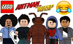 Funny Lego Ant Man and The Wasp Minifigures !!! (afro_man_news) Tags: lego funny minifigures custom all ant man wasp movie moc the scott lang antman ghost hope pym hank bill foster jimmy woo kurt dave marvel superheroes must watch uzman luis magician