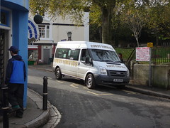 WL58DVH - South Street, Fowey, October 2014. (Iveco 59-12) Tags: fowey town bus fordtransit wl58dvh