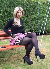 They weren't tights (Miss Nina Jay) Tags: stockings suspenders heels