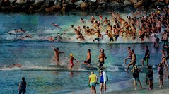 Jr. Lifeguards--explore (beachpeepsrus) Tags: water westcoast wave ocean longbeachcalifornia longbeachgranprix light lifeguards swim alamitosbay