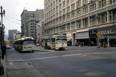 US CA San Francisco MUNI 1109 8-1970 Market Street (David Pirmann) Tags: tram trolley streetcar transit california ca sanfrancisco muni marketstreetrailway pcc