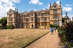 Montacute House and garden (Keith in Exeter) Tags: montacute house mansion elizabethan building architecture gradeilisted nationaltrust grass lawn path garden border english somerset england