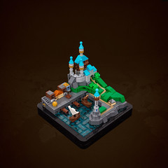 Of Sails and Spires – Summer Joust Prize, Vignette Category (roΙΙi) Tags: summerjoust prize castle vignette micro microscale harbor harbour ship lighthouse