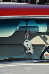 2018 Lebanon Route 66 Festival (Adventurer Dustin Holmes) Tags: 2018 carshow route66festival lebanonmo lebanonmissouri missouri event events lacledecounty car vehicle automobile fuzzydice dice mirror classic windshield
