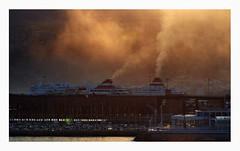 Almeria harbour at dusk (AurelioZen) Tags: spain andalucia almeria harbour ferries exhaust dust sunset dusk