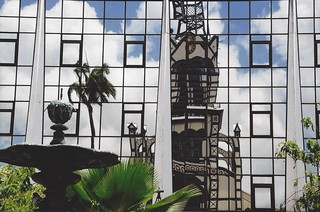 church at the mirror