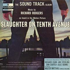 Slaughter On Tenth Avenue (Jim Ed Blanchard) Tags: soundtrack movie film lp album record vintage cover sleeve jacket vinyl slaughter tenth avenue crime richard rodgers herschel burke gilbert gun waterfront walter matthau