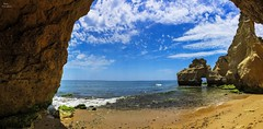 Inside the Cave (Peideluo) Tags: landscape sea mar rocas costa playa colors paisaje cloudscape clouds blue waterscape sky travel beach beautiful panoramica agua cielo roca océano arena