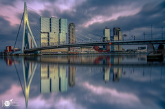 Reflecting the city (Robert Stienstra Photography) Tags: rotterdam rotterdamcityscape rotterdamskyline skyline skylines cityscape cityscapes cityphotography longexposure longexposurephotography reflections reflecting reflection architecture sunset riverscape riverbanks bigcity bigstopper 010 southholland robertstienstraphotography sky skyscape bridge bridges erasmusbridge erasmusbrug kopvanzuid