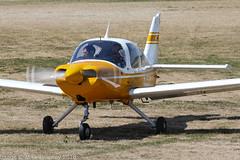 G-BAKW - 1970 build Beagle B.121 Pup 150, vacating Runway 08R on arrival at Barton (egcc) Tags: 175 b121 b121175 barton beagle cityairport cunningstuntsflyinggroup egcb gbakw lightroom manchester pup