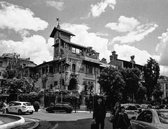Casina delle Fate, Quartiere Coppedè, Rome (Postcards from San Francisco) Tags: ma berggerpancro400 ber49 21mmsem analog film roma italia