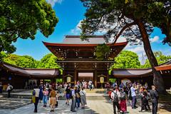 Meiji Jingū Shrine - Shibuya Tokyo Japan (mbell1975) Tags: shibuyaku tōkyōto japan jp meiji jingū shrine shibuya tokyo asia temple japanese gate portal gateway tor