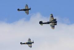Fighter Escort Duxford FL (Chris Baines) Tags: bristol blenheim mk 1 duxford flying legends flickr clickx hurricanes