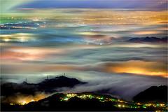 夜之風華 (蕭世榮) Tags: 南投縣 大崙山 茶園 銀杏森林 雲海 霧 夜景 fog landscape night