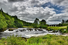 Eden Lacy, Cumbria, England (vincocamm) Tags: river eden rivereden weir splash green blue forest viaduct nikon d5500 clouds sky summer