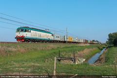 E.652.055 (Il Fotografo Ferroviario) Tags: mercitaliarail mir fs e652055 e652 reggioemilia lineamilanobologna ngc