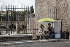 Ci vorrebbe il mare su questo cemento... (Ajelen Foto) Tags: roma centrostorico ombrellone cemento photostreet parlare bere estate