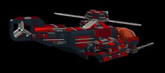 N.O.D futuristic helicopter4 (demitriusgaouette9991) Tags: lego military ldd army armored helicopter sky future flying vtol powerful gunship aircraft vehicle